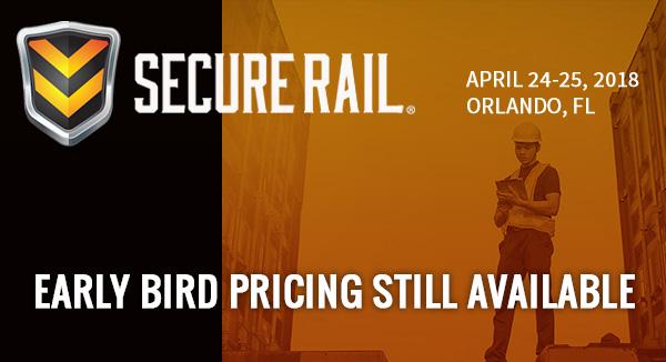 Secure Rail - April 25-26, 2018, Orlando, FL - Early Bird Still Available