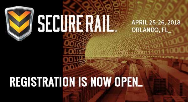 Secure Rail - April 25-26, 2018, Orlando, FL - Registration is Now Open